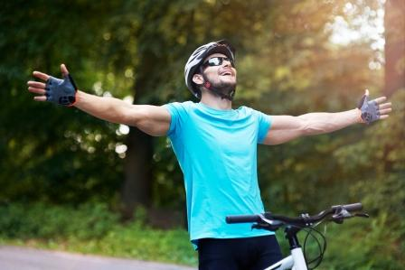 Cycling is good for relaxation and helps against stress