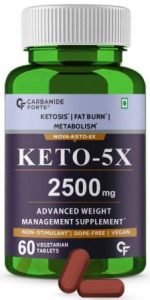 Carbamide Forte Keto Fat Burner & Natural Weight Loss Supplement