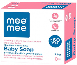 Mee Mee Nourishing Baby Soap with Almond & Milk Extracts